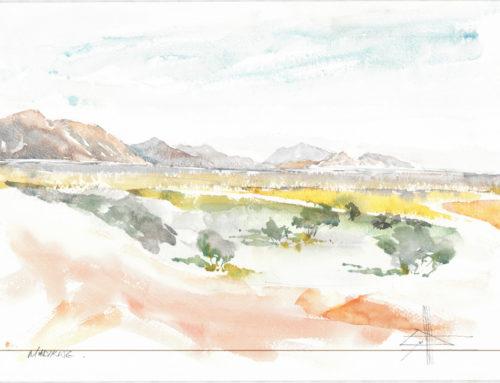 Painting at Tau Lodge in Madikwe Reserve