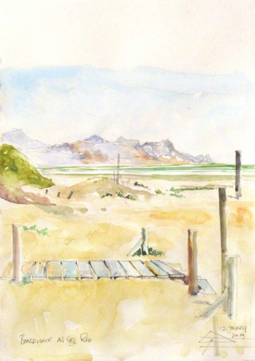Boardwalk at The Pipe Watercolour