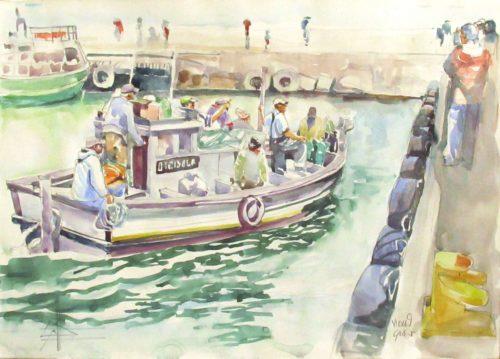 Boat in Kalk Bay Harbour
