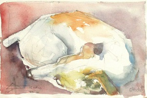watercolour painting of a jack russel terrier