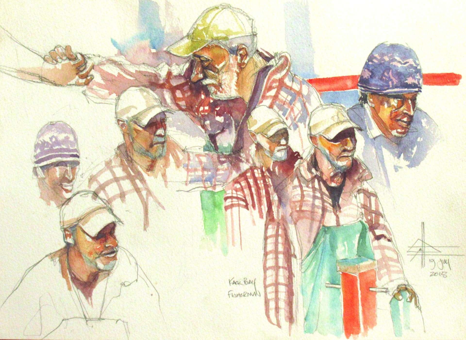Fishermen in Kalk Bay Harbour