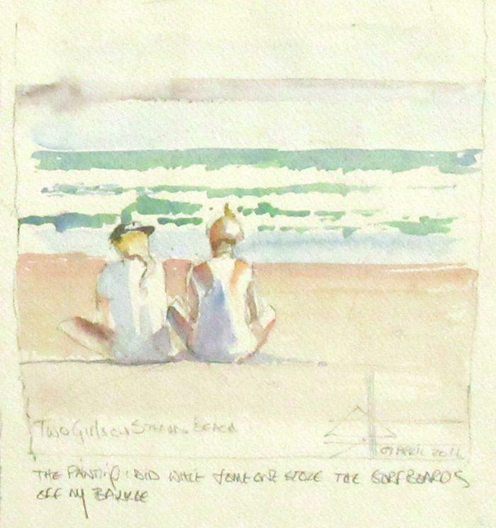 Two girls on Strand Beach