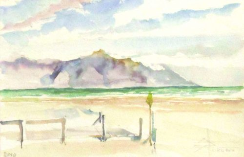 The Boardwalk on Strand Beach Watercolour on 200gm Bockingford Cold Pressed 18x27cm
