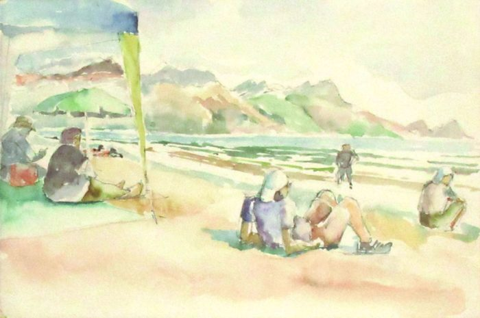 People on Strand Beach