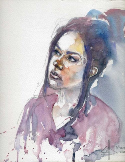 Portrait #170 watercolour