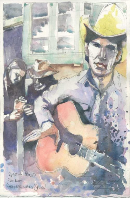 Townesvanzandt - waitin round to die - watercolour o 300gm hot pressed