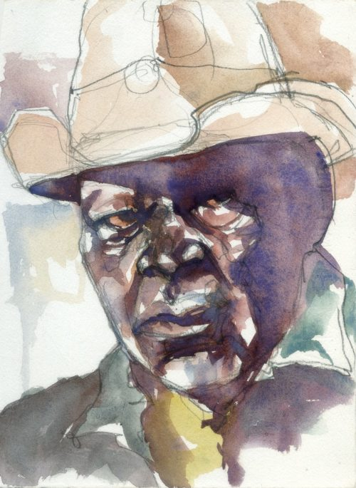 photo of a watercolour of Seymour Washington - from Heartworn highways