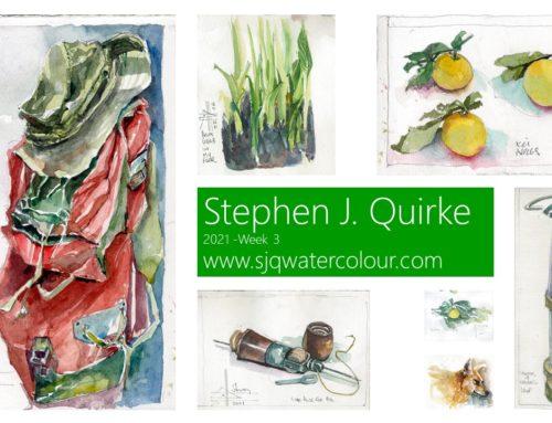 Watercolour-a-Day 2021:  Week 3