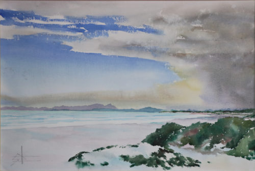 Watercolour of Table Mountain from Strand