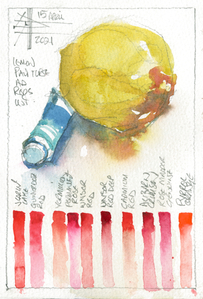 painting of a lemon - Render in watercolour - make it intriguing